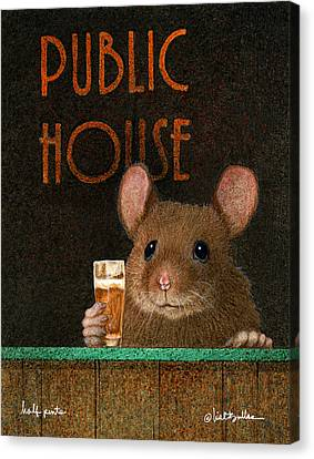 Canvas Print featuring the painting Half Pint... by Will Bullas