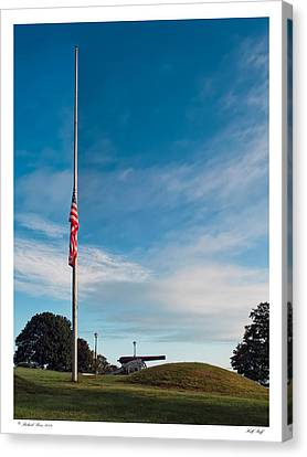 Canvas Print featuring the photograph Half Staff by Richard Bean