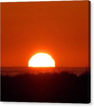 Half Sun Canvas Print by  Newwwman