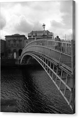 Halfpenny Bridge Canvas Print - halfpenny Bridge by Colin O neill