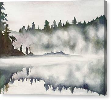 Canvas Print featuring the painting Haliburton Morning by Nadine Dennis