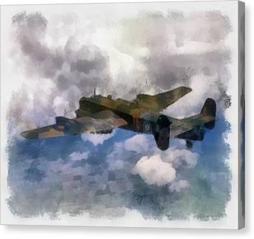 Raf Canvas Print - Halifax II 35 Squadron Wwii by Esoterica Art Agency