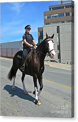 Halifax Police Mounted Division Canvas Print by John Malone