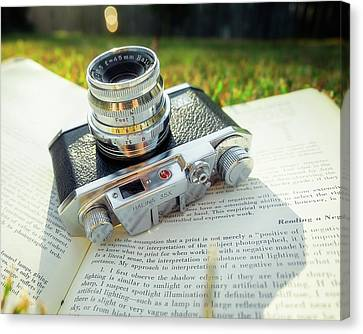 Halina 35x Rangefinder Camera Canvas Print by Jon Woodhams