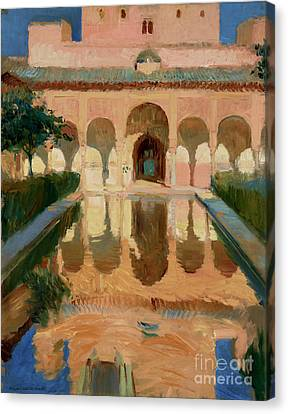 Munch Canvas Print - Hall Of The Ambassadors, Alhambra, Granada By Joaquin Sorolla Y Bastida by Esoterica Art Agency