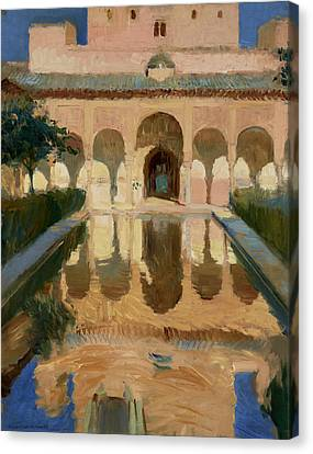 Hall Of The Ambassadors, Alhambra, Granada Canvas Print by Joaquin Sorolla