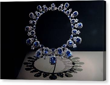 Hall Sapphire And Diamond Necklace Canvas Print by LeeAnn McLaneGoetz McLaneGoetzStudioLLCcom