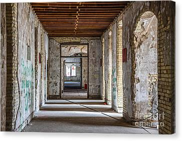 Hall To Patient Rooms Canvas Print