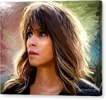 Halle Berry Canvas Print by Dori Hartley