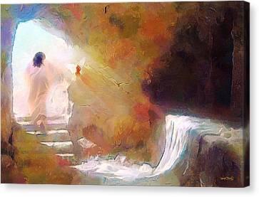 Hallelujah, He Is Risen Canvas Print
