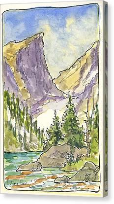 Hallett's Peak Canvas Print
