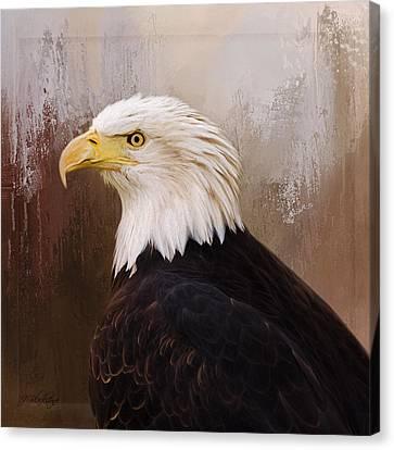 Hallmark Of Courage - Eagle Art Canvas Print by Jordan Blackstone