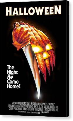 Horror Fantasy Movies Canvas Print - Halloween, 1978 by Everett