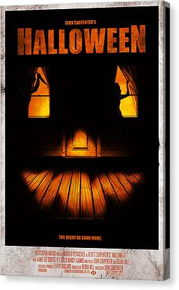 Halloween Alternative Movie Poster Canvas Print by Christopher Ables