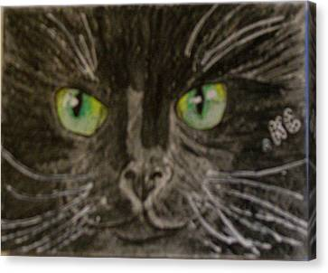 Halloween Black Cat I Canvas Print