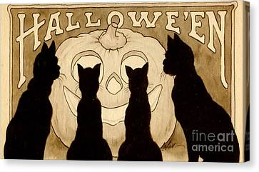 Halloween Card Canvas Print by American School
