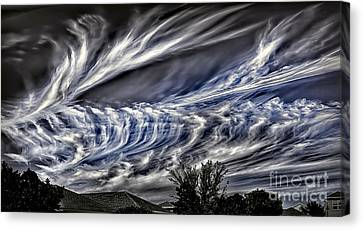 Halloween Clouds Canvas Print
