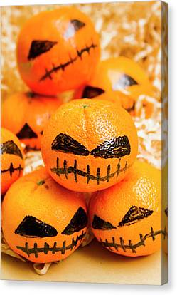 Tangerines Canvas Print - Halloween Craft Treats by Jorgo Photography - Wall Art Gallery