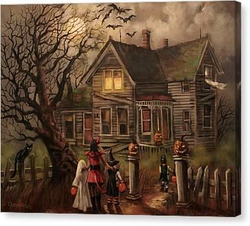 Halloween Dare Canvas Print by Tom Shropshire