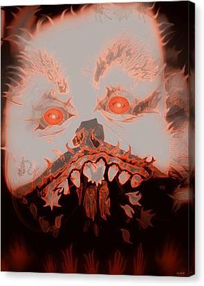 Halloween Devil Canvas Print by Linda Galok