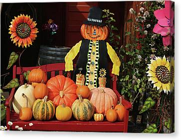 Halloween Display Canvas Print by Art Block Collections