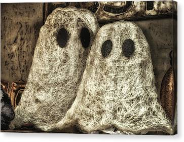 Halloween Ghosts Boo Canvas Print by Thomas Woolworth