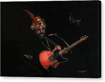 Halloween Gig Canvas Print by Arline Wagner