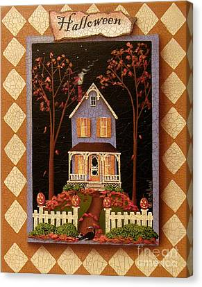 Halloween Hill Canvas Print by Catherine Holman