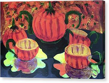 Canvas Print featuring the painting Halloween Holidays by Donald J Ryker III