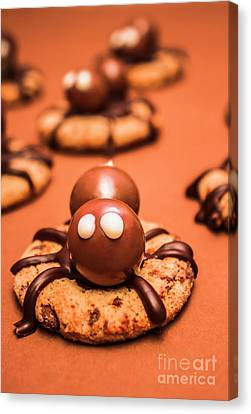 Creepy Canvas Print - Halloween Homemade Cookie Spiders by Jorgo Photography - Wall Art Gallery