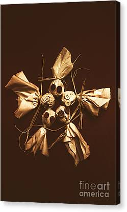 Halloween Horror Dolls On Dark Background Canvas Print