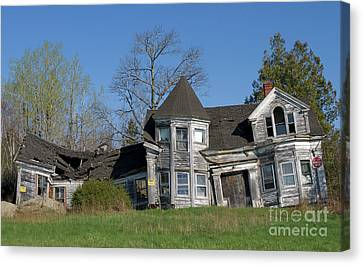 Maine Mountains Canvas Print - Halloween House Revisited by Skip Willits