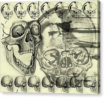 Halloween In Grunge Style Canvas Print by Michal Boubin