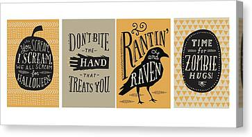 Halloween Lettering - Ai Canvas Print by Gillham Studios