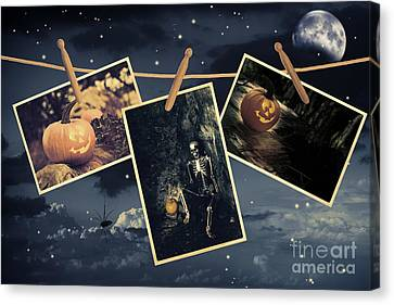 Halloween Line Canvas Print by Amanda Elwell