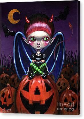Halloween Little Devil Canvas Print
