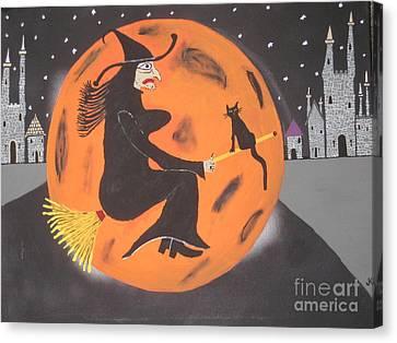 Well Endowed Canvas Print - Halloween Night At Disneyland by Jeffrey Koss