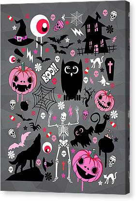 Caricature Canvas Print - Halloween Night  by Mark Ashkenazi