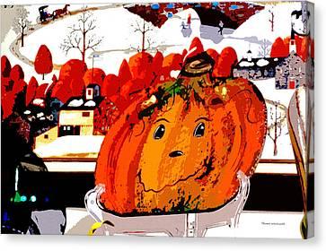 Halloween Pumpkin Pa 01 Canvas Print by Thomas Woolworth
