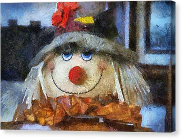 Halloween Scarecrow Pa 02 Canvas Print by Thomas Woolworth