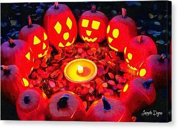 Halloween Secret Ritual Canvas Print by Leonardo Digenio