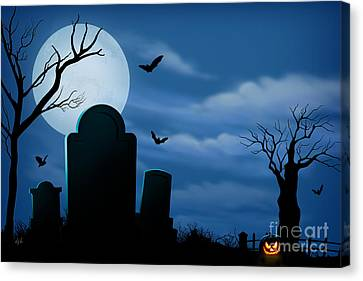 Halloween Spooks Canvas Print by Bedros Awak