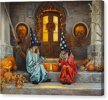 Halloween Sweetness Canvas Print by Greg Olsen