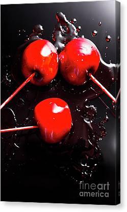 Halloween Toffee Apples Canvas Print