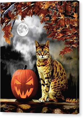 Halloween Tom Canvas Print by Ron Chambers