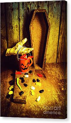 Halloween Trick Of Treats Background Canvas Print by Jorgo Photography - Wall Art Gallery