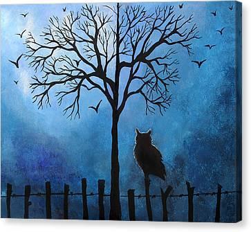 Halloween Whimsical Artwork Canvas Print by Nirdesha Munasinghe