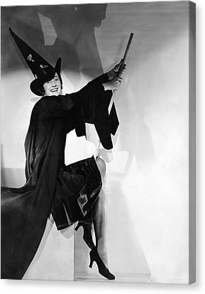 Halloween Witch Canvas Print by Underwood Archives