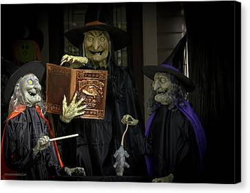 Halloween Witches On Tillson Street Canvas Print
