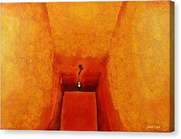 Hall Canvas Print - Hallway - Da by Leonardo Digenio